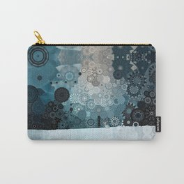 Fancy Snow: White Hare In A Snow Storm Carry-All Pouch