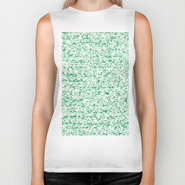 green abstract striped background Biker Tank