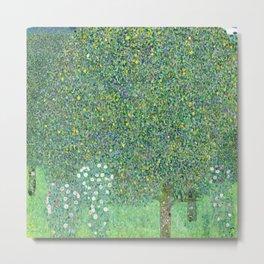 Klimt - Rosebushes under the Trees, 1905 Metal Print