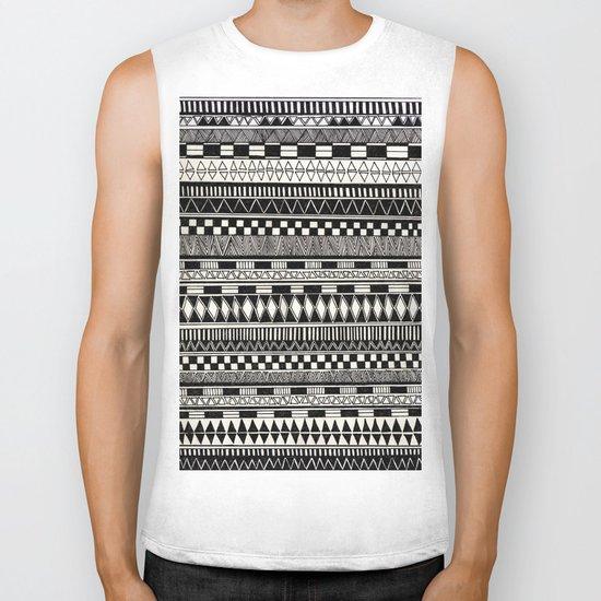 black//white Biker Tank