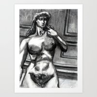 Bad Ass Ladies of Florence: David Art Print