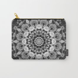 Tulips black and white, mandala style Carry-All Pouch