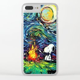 Snoopy Meets starry night Clear iPhone Case