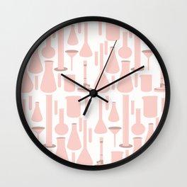Pink Glassware Wall Clock