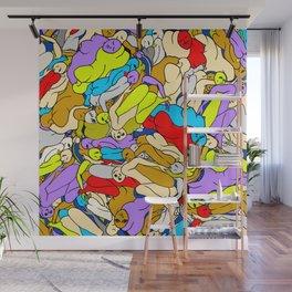 Sleepy Heads - Rainbow 1 Wall Mural