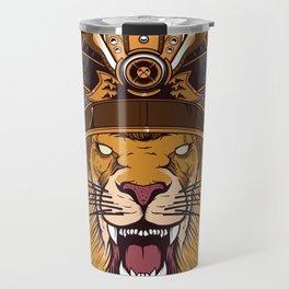 lion samurai Travel Mug