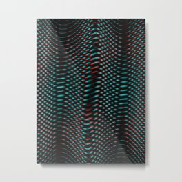 Echoes I - Abstract Glitch Metal Print