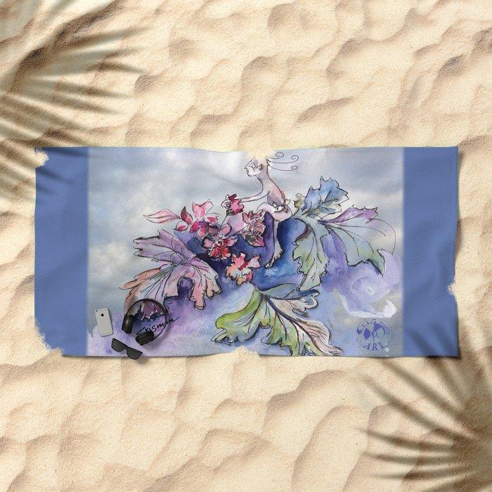 Jester B's Herbal Nutrition Beach Towel