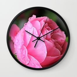 Rose Drops Wall Clock