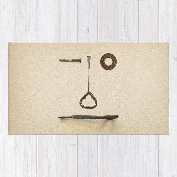 the Forgotten Workshop series- tool face Rug