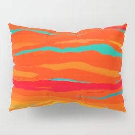 Ripped Turquoise Sunset Sky Pillow Sham