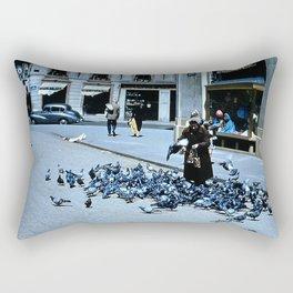 Days Long Past: Pigeon Lady Rectangular Pillow