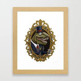 Dastardly Dinosir Framed Art Print
