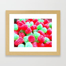 With Visions of Sugar Plums Framed Art Print