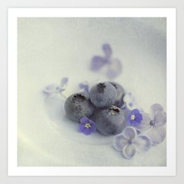Blueberry Smile Art Print