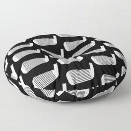 Golf Club Head Vintage Pattern (Black/White) Floor Pillow
