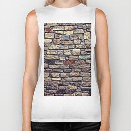 Brick Wall Pattern Biker Tank