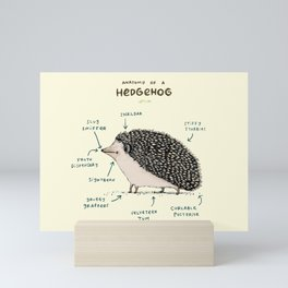 Anatomy of a Hedgehog Mini Art Print