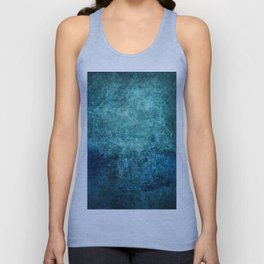 Turquoise Ocean Marble Unisex Tank Top