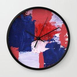 Abstract Expression #1 by Michael Moffa Wall Clock