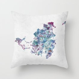 St Martin map Throw Pillow