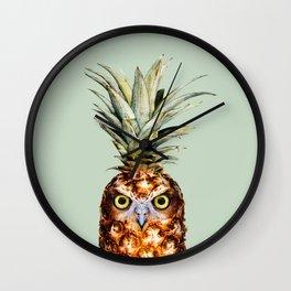 PINEAPPLE OWL Wall Clock