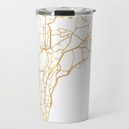 MUMBAI INDIA CITY STREET MAP ART Travel Mug