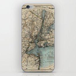 Map of Upstate New York 1891 iPhone Skin