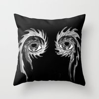 tool Throw Pillows featuring Tool eyes by SnowVampire