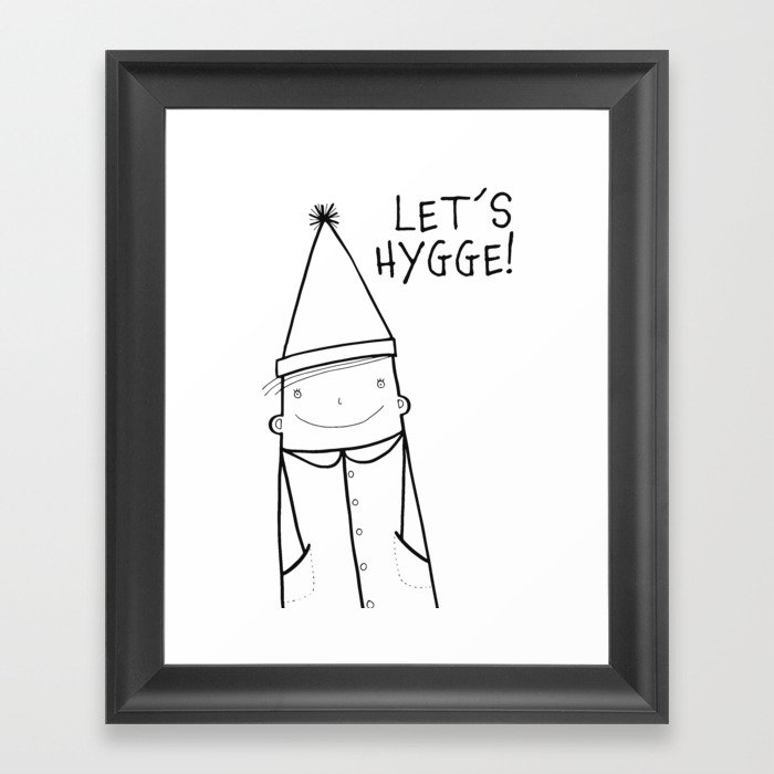 Scandinavian Hygge illustration art Framed Art Print