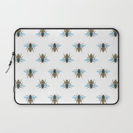 Watercolour Bee Pattern Laptop Sleeve