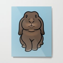 Coco the Minilop Bunny Metal Print