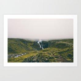 Icelandic waterfall Art Print