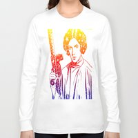 princess leia Long Sleeve T-shirts featuring Princess Leia by mchlsrr