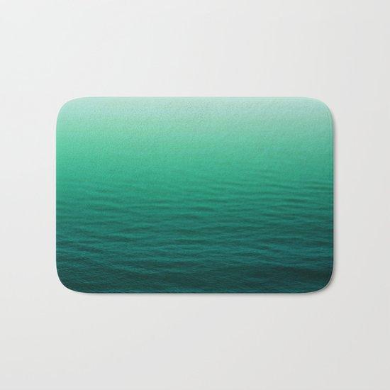 Deep Aqua Waves Bath Mat