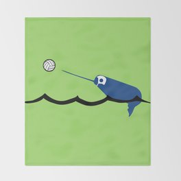Water Polo Narwhal Throw Blanket