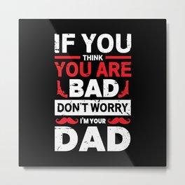 Papa Father's Day Saying Gift Idea Metal Print