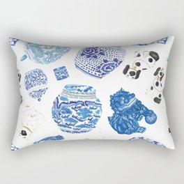 Chinoiserie Curiosity Cabinet Toss 2 Rectangular Pillow