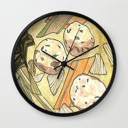 Matzah Ball Soup Wall Clock