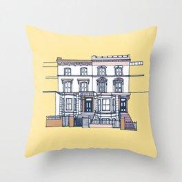 'Notting Hill' house print Throw Pillow