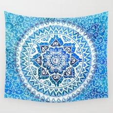 Watercolour Yin Yang Mandala Wall Tapestry