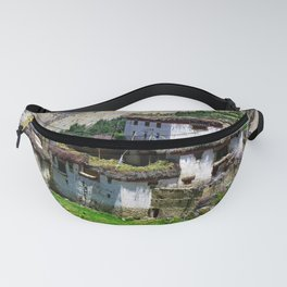 Picturesque Traditional Himalayan Village Houses, Himalaya Fanny Pack