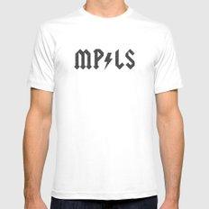Minneapolis MEDIUM White Mens Fitted Tee