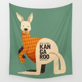 Hello Kangaroo Wall Tapestry