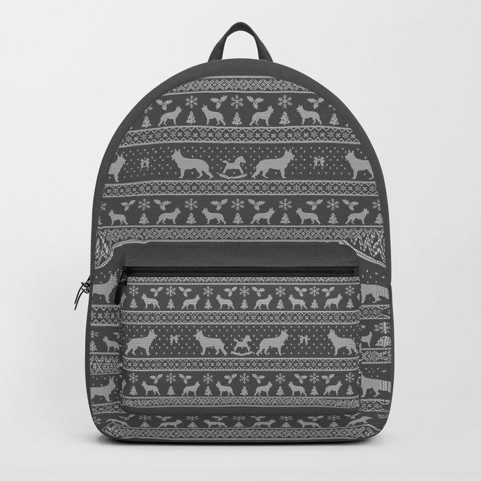 German Shepherd Christmas Sweater.Ugly Christmas Sweater German Shepherd Grey Backpack By Camillahaggblom