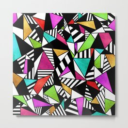 Geometric Multicolored Metal Print