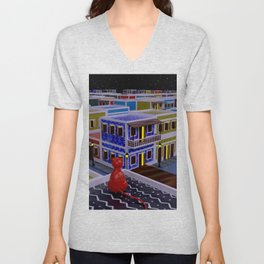 Vejigante City Unisex V-Neck