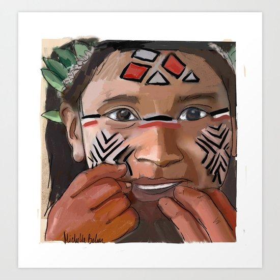 Karaja girl Art Print