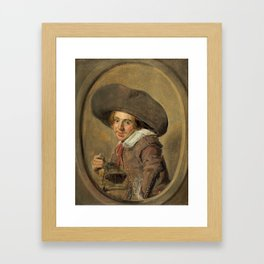 "Frans Hals ""A Young Man in a Large Hat"" Framed Art Print"