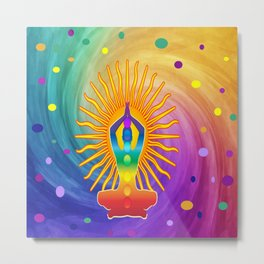 COLORFUL Om Meditation Mantra Chanting DESIGN Metal Print